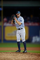 Trenton Thunder pitcher Andrew Bellatti (29) during an Eastern League game against the Reading Fightin Phils on August 16, 2019 at FirstEnergy Stadium in Reading, Pennsylvania.  Trenton defeated Reading 7-5.  (Mike Janes/Four Seam Images)