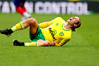 20th March 2021; Carrow Road, Norwich, Norfolk, England, English Football League Championship Football, Norwich versus Blackburn Rovers; Todd Cantwell of Norwich City goes down injured