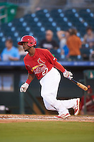 Palm Beach Cardinals shortstop Juan Herrera (27) at bat during a game against the Jupiter Hammerheads  on August 12, 2016 at Roger Dean Stadium in Jupiter, Florida.  Jupiter defeated Palm Beach 9-0.  (Mike Janes/Four Seam Images)