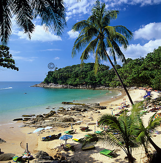 Thailand, Phuket, near Patong: Paradise Beach | Thailand, Phuket, bei Patong: Paradise Beach