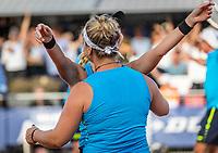 Netherlands, September 12,  2021, Naaldwijk KIA Competition mixed, premier league, LTC Naaldwijk vs TC Leimonias, womans doubles::   Ysaline Bonaventure (NED) celebrates the team Naaldwijk is national champion.<br /> Photo: Henk Koster/tennisimages.com