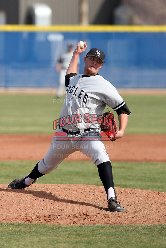Travis Huber, College of Southern Idaho Eagles, in action against the South Mountain Community College Cougars at South Mountain CC, Phoenix, AZ - 02/06/2011.Photo by:  Bill Mitchell/Four Seam Images.