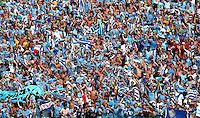 Uruguay supporters celebrate their victory and progression to the next round of the World Cup