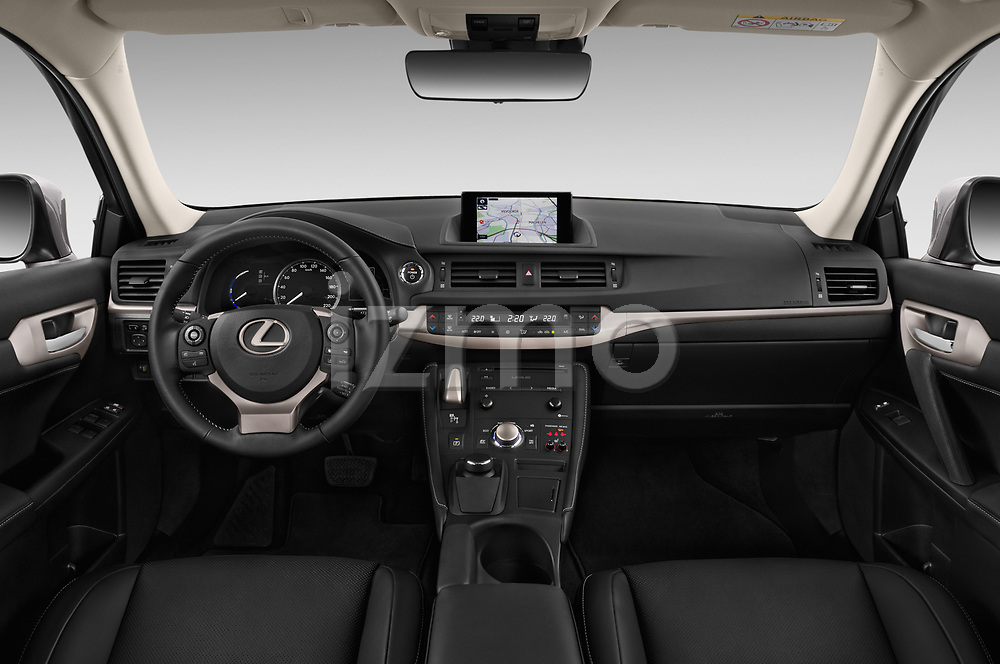 Stock photo of straight dashboard view of a 2018 Lexus CT Executive Line 5 Door Hatchback