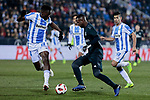 Real Madrid's Vinicius Jr. and CD Leganes's Kenneth Josiah Omeruo during  between Real Madrid and CD Leganes at Butarque Stadium in Madrid, Spain. January 16, 2019. (ALTERPHOTOS/A. Perez Meca)