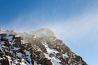 Blowing snow on Mt. Bierstadt's summit