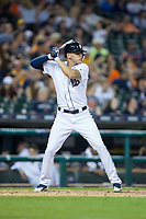 JaCoby Jones (40) of the Detroit Tigers at bat against the Chicago White Sox at Comerica Park on June 2, 2017 in Detroit, Michigan.  The Tigers defeated the White Sox 15-5.  (Brian Westerholt/Four Seam Images)
