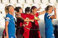 Spain's Marta Torrejon and Veronica Boquete during the match of  European Women's Championship 2017 at Leganes, between Spain and Finland. September 20, 2016. (ALTERPHOTOS/Rodrigo Jimenez) NORTEPHOTO