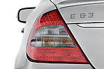 Tail light close up detail view of a 2008 Mercedes E63 Sedan