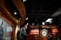 United States Senate Minority Leader Chuck Schumer (Democrat of New York), offers remarks and fields questions from reporters during a press conference at the US Capitol in Washington, DC., Tuesday, September 15, 2020. <br /> Credit: Rod Lamkey / CNP /MediaPunch