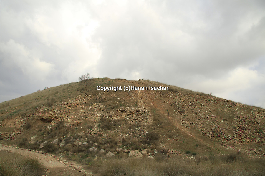 Israel, Shephelah,Tel Lachish, the site of the biblical Lachish, the southern side