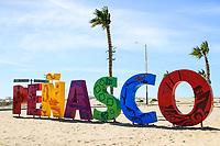 Letters of various colors with the word Penasco in the tourist destination called Puerto Peñasco, Sonora, Mexico.<br /> (Photo: Luis Gutierrez /NortePhoto.com)<br /> <br /> Letras de varios colores con la palabra Peñasco en el destino turistico llamado Puerto Peñasco, Sonora, Mexico.<br /> (Photo: Luis Gutierrez /NortePhoto.com)