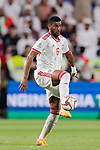 Fares Juma Al Saadi of United Arab Emirates in action during the AFC Asian Cup UAE 2019 Semi Finals match between Qatar (QAT) and United Arab Emirates (UAE) at Mohammed Bin Zaied Stadium  on 29 January 2019 in Abu Dhabi, United Arab Emirates. Photo by Marcio Rodrigo Machado / Power Sport Images