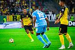 09.08.2019, Merkur Spiel-Arena, Düsseldorf, GER, DFB Pokal, 1. Hauptrunde, KFC Uerdingen vs Borussia Dortmund , DFB REGULATIONS PROHIBIT ANY USE OF PHOTOGRAPHS AS IMAGE SEQUENCES AND/OR QUASI-VIDEO<br /> <br /> im Bild | picture shows:<br /> Manuel Akanji (Borussia Dortmund #16) am Ball, <br /> <br /> Foto © nordphoto / Rauch