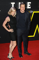 Alan Tudyk & a Guest during the STAR WARS: 'The Force Awakens' EUROPEAN PREMIERE at Odeon, Empire & Vue Cinemas, Leicester Square, England on 16 December 2015. Photo by David Horn / PRiME Media Images