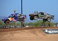 Apr 16, 2011; Surprise, AZ USA; LOORRS driver Rick Huseman (36) follows Ricky Johnson (48) during round 3 at Speedworld Off Road Park. Mandatory Credit: Mark J. Rebilas-.