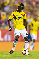 Tampa, FL - Thursday, October 11, 2018: Davinson Sanchez during a USMNT match against Colombia.  Colombia defeated the USMNT 4-2.