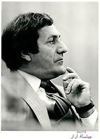 Le Ministre de la Justice Marc-Andre Bedard, le 5 septembre 1979.<br /> <br /> PHOTO : Agence Quebec Presse