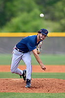 Atlanta Braves pitcher Troy Bacon (51) during a Minor League Spring Training game against the Tampa Bay Rays on April 25, 2021 at Charlotte Sports Park in Port Charlotte, Fla.  (Mike Janes/Four Seam Images)