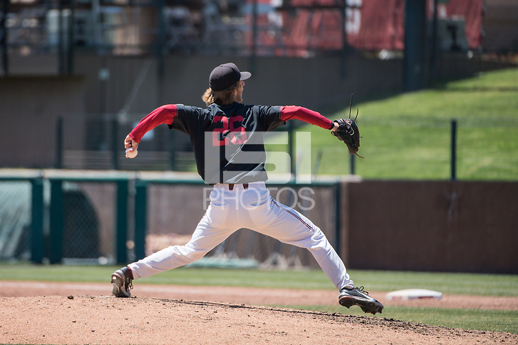 STANFORD, CA - MAY 29: Quinn Mathews during a game between Oregon State University and Stanford Baseball at Sunken Diamond on May 29, 2021 in Stanford, California.