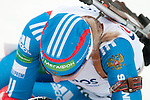 MARTELL-VAL MARTELLO, ITALY - FEBRUARY 02: PERMINOVA Svetlana (RUS) after the Women 7.5 km Sprint at the IBU Cup Biathlon 6 on February 02, 2013 in Martell-Val Martello, Italy. (Photo by Dirk Markgraf)