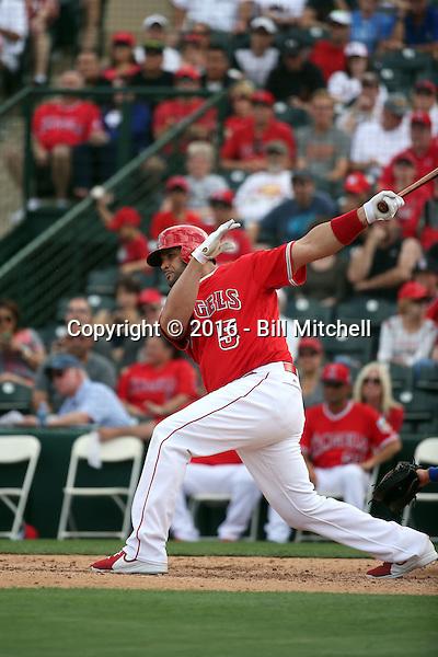 Albert Pujols - Los Angeles Angels 2016 spring training (Bill Mitchell)
