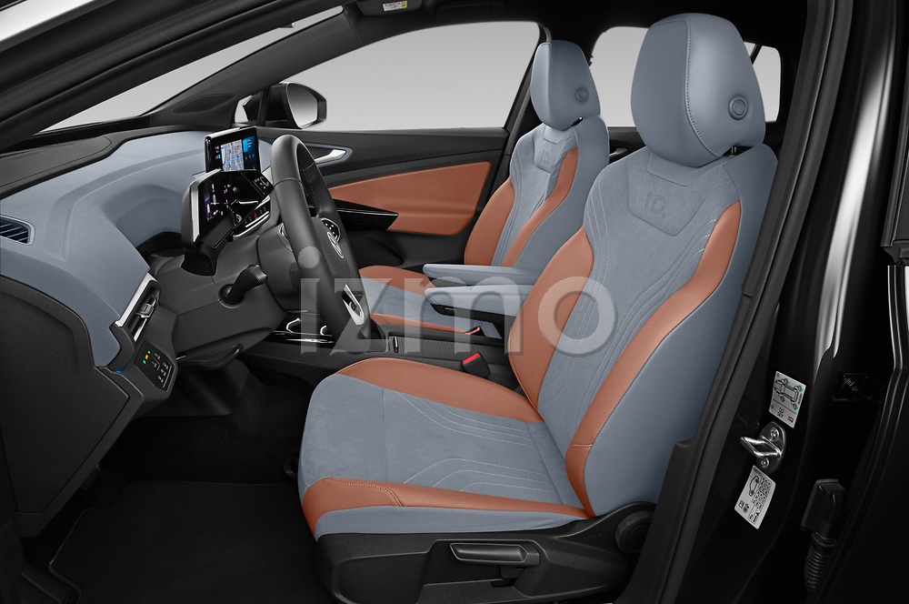 Front seat view of 2021 Volkswagen ID.4 First-Edition 5 Door SUV Front Seat  car photos