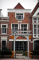 Dutch style town houses in Holland Village, a 600 acre re-creation of a Dutch city on the outskirts of Shenyang lies in ruins as a monument to corruption in China. Yang, a Dutch passport, got hooked on Holland while studying horticulture at Leiden University. Yang, who built the village with some of ill gotten millions, now languishes in jail and the town that is composed of several monumental buildings, plus windmills, artificial lakes, canals, a fullsize sailing ship, 1400 luxury apartments and even an indoor beach.