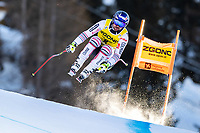 26th December 2020; Stelvio, Bormio, Italy; FIS World Cup Mens Downhill;   Maxence Muzaton of France during his 1st training run for the mens downhill race of FIS ski alpine world cup at the Stelvio
