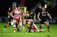 Photo: Richard Lane/Richard Lane Photography. Gloucester Rugby v London Wasps. Aviva Premiership. 02/11/2013 Wasps' Carlo Festuccia attacks.