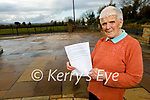 Kitty McElligott at home in Ballylongford and a member of the Ballylongford Active Retirement group who received letters from the students of Lenamore NS.