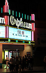 The MARQUEE at We are Plastic Ono Band on night 2 at The Orpheum Theatre in Downtown Los Angeles, California on October 02,2010                                                                   Copyright 2010  Debbie VanStory / RockinExposures