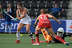 NED - Amsterdam, Netherlands, August 20: During the women Pool B group match between Germany (white) and England (red) at the Rabo EuroHockey Championships 2017 August 20, 2017 at Wagener Stadium in Amsterdam, Netherlands. Final score 1-0. (Photo by Dirk Markgraf / www.265-images.com) *** Local caption *** Charlotte Stapenhorst #12 of Germany