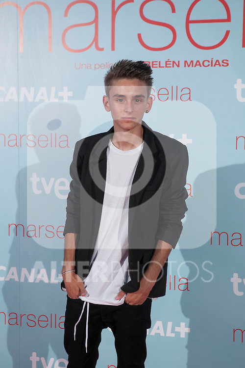 Guillermo Campra poses at `Marsella´ film premiere photocall at Capital cinema in Madrid, Spain. July 17, 2014. (ALTERPHOTOS/Victor Blanco)