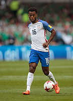 Mexico City, Mexico - Sunday June 11, 2017: Kellyn Acosta during a 2018 FIFA World Cup Qualifying Final Round match with both men's national teams of the United States (USA) and Mexico (MEX) playing to a 1-1 draw at Azteca Stadium.