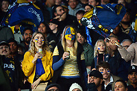 Fans in the grandstand during the Super Rugby Tran-Tasman final between the Blues and Highlanders at Eden Park in Auckland, New Zealand on Saturday, 19 June 2020. Photo: Dave Lintott / lintottphoto.co.nz