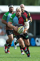 Joe Marler of Harlequins in action during the Aviva Premiership match between Harlequins and Sale Sharks at The Twickenham Stoop on Saturday 15th September 2012 (Photo by Rob Munro)
