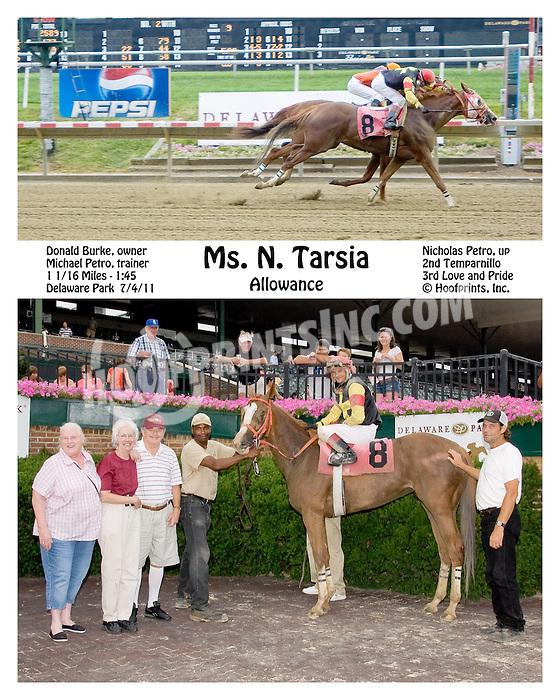 Ms. N Tarsia winning at Delaware Park on 7/4/11