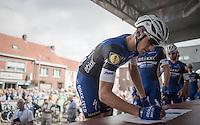 Marcel Kittel (DEU/Etixx-QuickStep) signing in<br /> <br /> 101st Kampioenschap van Vlaanderen 2016 (UCI 1.1)<br /> Koolskamp › Koolskamp (192.4km)
