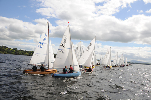 The IDRA 14 dinghy class prepare to start a race - 2021 sees the historic class celebrate its 75th anniversary