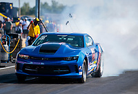 Sep 4, 2020; Clermont, Indiana, United States; NHRA factory stock driver Charles Malo during qualifying for the US Nationals at Lucas Oil Raceway. Mandatory Credit: Mark J. Rebilas-USA TODAY Sports