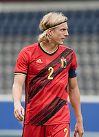 Belgium's captain Sebastiaan Bornauw (2) pictured during a soccer game between the national teams Under21 Youth teams of Belgium and Germany on the 5th matday in group 9 for the qualification for the Under 21 EURO 2021 , on tuesday 8 th of September 2020  in Leuven , Belgium . PHOTO SPORTPIX.BE   SPP   SEVIL OKTEM