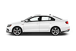 Car Driver side profile view of a 2017 Volkswagen Jetta GLI 4 Door Sedan Side View