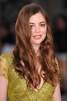 """Charlotte Hope<br /> at the London Film Festival premiere for """"A United Kingdom"""" at the Odeon Leicester Square, London.<br /> <br /> <br /> ©Ash Knotek  D3160  05/10/2016"""