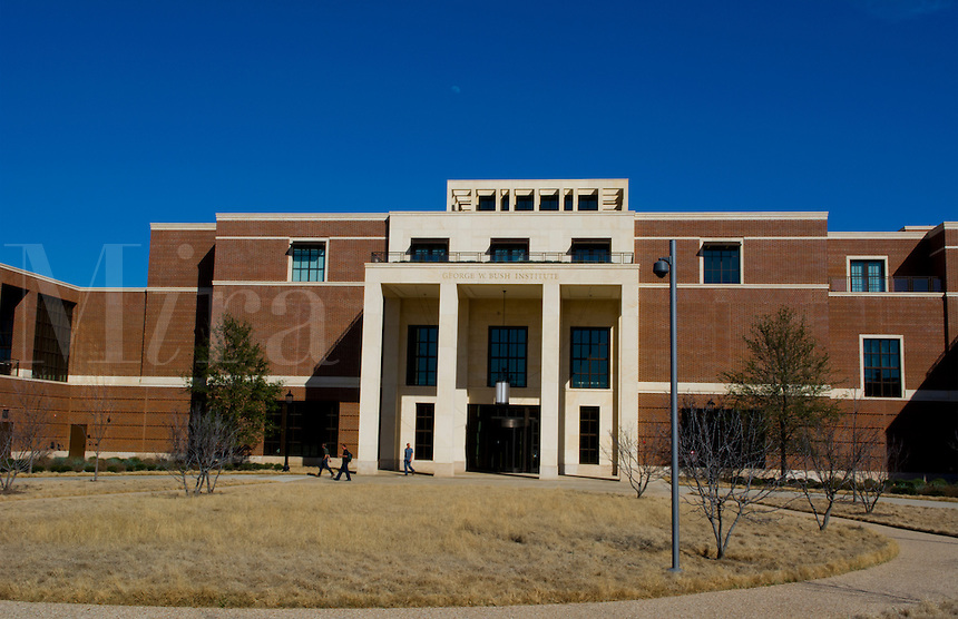Dallas Texas  Southern Methodist University SMU Pressident George W Bush Library building for history George Bush peaceful campus area of university college