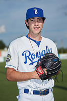 Burlington Royals pitcher Zack Phillips (34) poses for a photo prior to the game against the Danville Braves at Burlington Athletic Stadium on July 13, 2019 in Burlington, North Carolina. The Royals defeated the Braves 5-2. (Brian Westerholt/Four Seam Images)