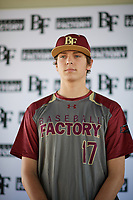 Brennan Holligan (17) of Arbor View High School in Las Vegas, Nevada during the Baseball Factory All-America Pre-Season Tournament, powered by Under Armour, on January 12, 2018 at Sloan Park Complex in Mesa, Arizona.  (Zachary Lucy/Four Seam Images)
