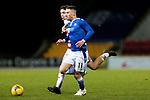 St Johnstone v Hamilton Accies…30.12.20   McDiarmid Park     SPFL<br />Michael O'Halloran fends off Andrew Winter<br />Picture by Graeme Hart.<br />Copyright Perthshire Picture Agency<br />Tel: 01738 623350  Mobile: 07990 594431