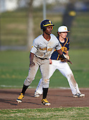 Lakewood Spartans third baseman Dontae Mitchell (13) during a game against the Boca Ciega Pirates at Boca Ciega High School on March 2, 2016 in St. Petersburg, Florida.  (Copyright Mike Janes Photography)