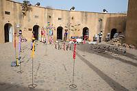 Art Displayed inside the Fort d'Estrees, Biannual Arts Festival, Goree Island, Senegal.